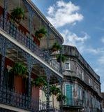 Architecture de quartier français de la Nouvelle-Orléans images libres de droits