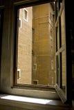 Architecture de Rome de cour de résidence de fenêtre de Vatican Photo stock