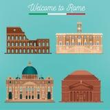Architecture de Rome Tourisme Italie Bâtiments de Rome Photos stock