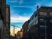 Architecture de rue de Prague Vues et vues de République Tchèque Image stock