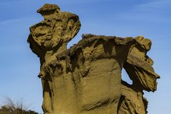Architecture de sable Sculptures naturelles en Bolnuevo photo libre de droits
