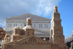 Architecture de Sandy Décorations de Pâques à Moscou Photo stock