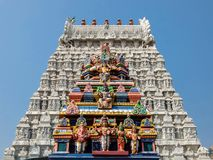 Architecture de temple d'Annamalaiyar dans Tiruvannamalai, Inde image libre de droits