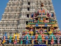 Architecture de temple d'Annamalaiyar dans Tiruvannamalai, Inde photos stock