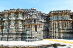 Architecture de temple de Halebidu Hoysaleswara Photos libres de droits
