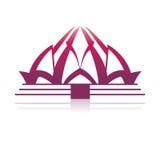 Architecture de temple de Lotus Photo stock