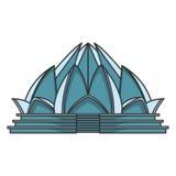 Architecture de temple de Lotus Images stock