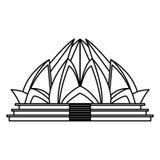 Architecture de temple de Lotus Photos libres de droits