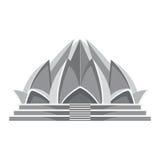 Architecture de temple de Lotus Image libre de droits