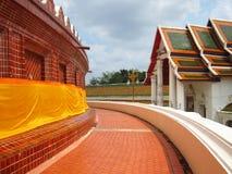 Architecture de temple thaïlandais sur extérieur Images libres de droits