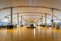 Architecture de terminal de départ d'aéroport international d'Oslo Gardermoen Photos libres de droits