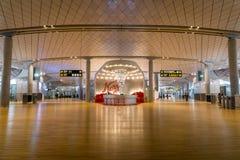 Architecture de terminal de départ d'aéroport international d'Oslo Gardermoen Images libres de droits