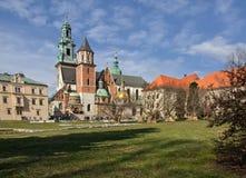 Architecture de ville Pologne de Cracovie Photos stock