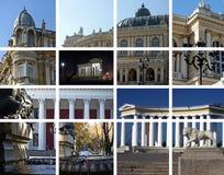 Architecture de ville - un collage. Odessa, Ukraine Image stock