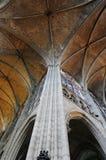 Architecture de voûte de la cathédrale Images libres de droits