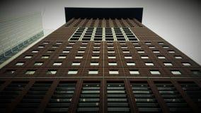 Architecture de vue de panorama de gratte-ciel de Francfort de dessous Photos libres de droits