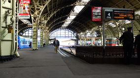 The architecture and decoration of the Vitebsk Station in style modern stock video