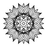 Creative ornament design. Black and white mandala. Hand drawn element. Anti-stress coloring page for adults. In architecture and decorative art, ornament is a Royalty Free Stock Photos