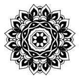 Creative ornament design. Black and white mandala. Hand drawn element. Anti-stress coloring page for adults. In architecture and decorative art, ornament is a Stock Illustration