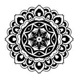 Creative ornament design. Black and white mandala. Hand drawn element. Anti-stress coloring page for adults. In architecture and decorative art, ornament is a Royalty Free Stock Images