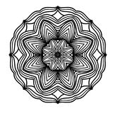 Creative ornament design. Black and white mandala. Hand drawn element. Anti-stress coloring page for adults. In architecture and decorative art, ornament is a Royalty Free Stock Photography