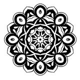 Creative ornament design. Black and white mandala. Hand drawn element. Anti-stress coloring page for adults. In architecture and decorative art, ornament is a Royalty Free Stock Photo