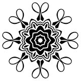 Creative ornament design. Black and white mandala. Hand drawn element. Anti-stress coloring page for adults. In architecture and decorative art, ornament is a Vector Illustration