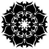 Creative ornament design. Black and white mandala. Hand drawn element. Anti-stress coloring page for adults. In architecture and decorative art, ornament is a royalty free illustration