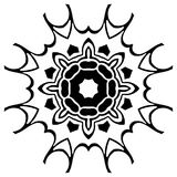Creative ornament design. Black and white mandala. Hand drawn element. Anti-stress coloring page for adults. In architecture and decorative art, ornament is a Royalty Free Stock Image
