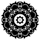 Creative ornament design. Black and white mandala. Hand drawn element. Anti-stress coloring page for adults Stock Photo
