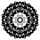 Creative ornament design. Black and white mandala. Hand drawn element. Anti-stress coloring page for adults Stock Photography