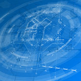 Architecture design: blueprint house plan Royalty Free Stock Photo