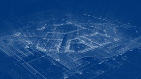 Architecture design: blueprint plan - illustration of a plan royalty free illustration
