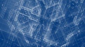Architecture design: blueprint plan - illustration of a plan vector illustration