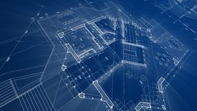 Architecture design: blueprint plan - illustration of a plan stock illustration