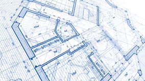 Architecture design: blueprint plan - illustration of a plan mod stock illustration