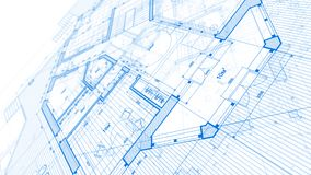 Architecture design: blueprint plan - illustration of a plan mod royalty free stock photography