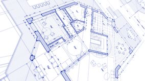 Architecture design: blueprint plan - illustration of a plan mod vector illustration