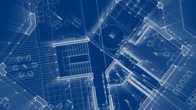 Architecture design: blueprint plan - illustration of a plan royalty free illustration