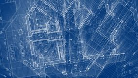 Architecture design: blueprint plan - illustration of a plan stock illustration