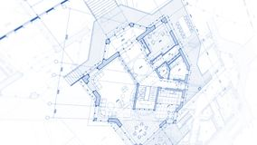 Architecture design: blueprint plan - illustration of a plan mod stock photography