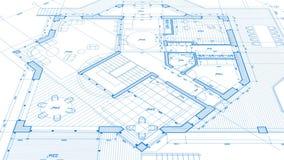 Architecture design: blueprint plan stock video footage