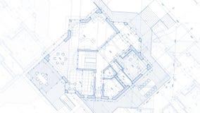 Architecture design: blueprint plan stock video