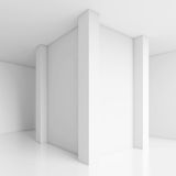 Architecture Design. 3d White Abstract Architecture Design Royalty Free Stock Photography