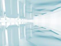 Architecture Design. Futuristic Interior Background. 3d Render Illustration Royalty Free Stock Image