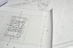 Architecture Design Plan Stock Photos