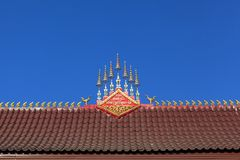 Architecture detai of buddhist temple Stock Image