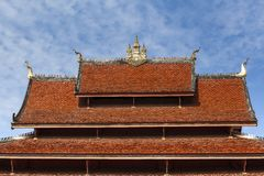 Architecture detai of buddhist temple. In Luang Prabang, Laos Stock Images