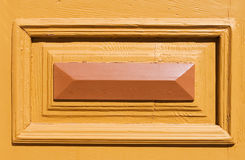 Architecture detail. On the wooden door Royalty Free Stock Photos