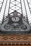 Architecture detail of Atocha train station in Madrid Stock Photo